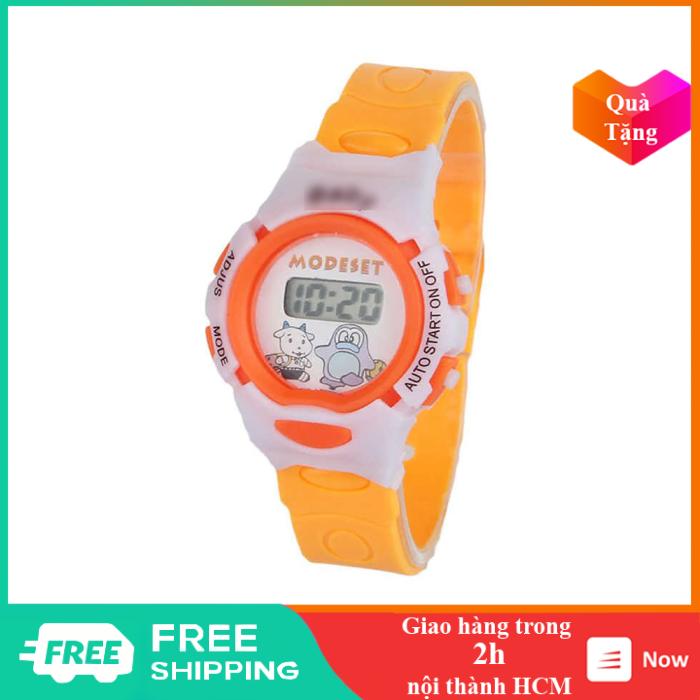 Nơi bán Đồng hồ trẻ em kiểu dáng thể thao, chất liệu nhựa và cao su có đèn led xem giờ - TE0384