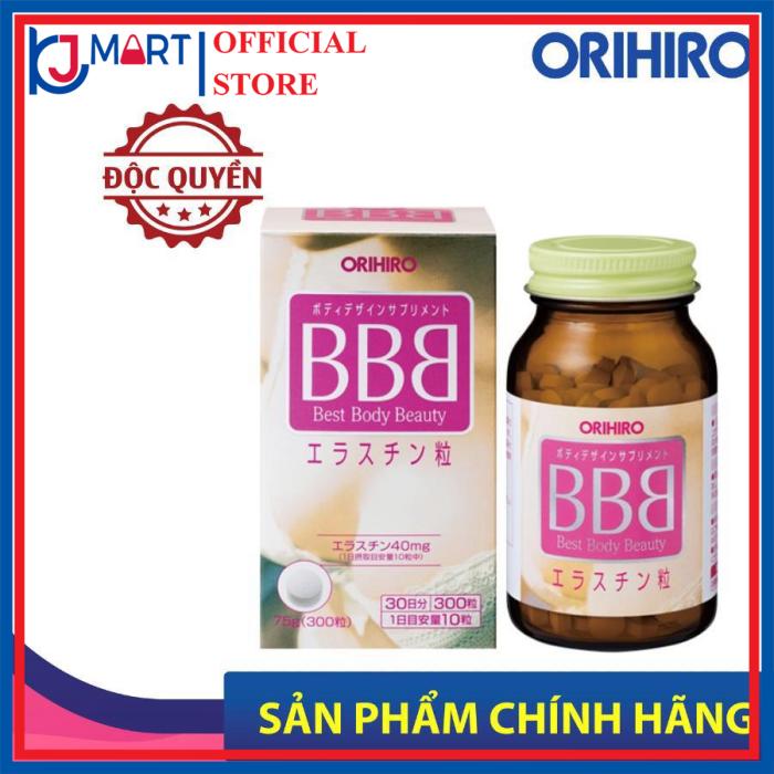 Viên uống nở ngực BBB Best Beauty Body Orihiro Nhật Bản giúp tăng kích thước và săn chắc ngực,  300 viên-hộp giá rẻ