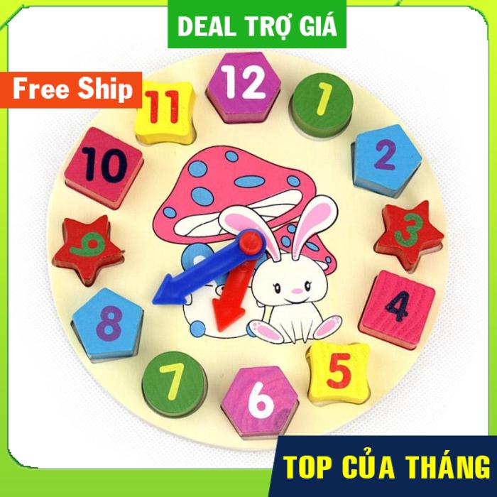 (FREE SHIP - FREE QUÀ TẶNG) Đồ chơi gỗĐồng Hồ Dành Cho Trẻ Em Kid Cho Bé Giáo Dục Đồ Chơi Quà Tặng thumbnail