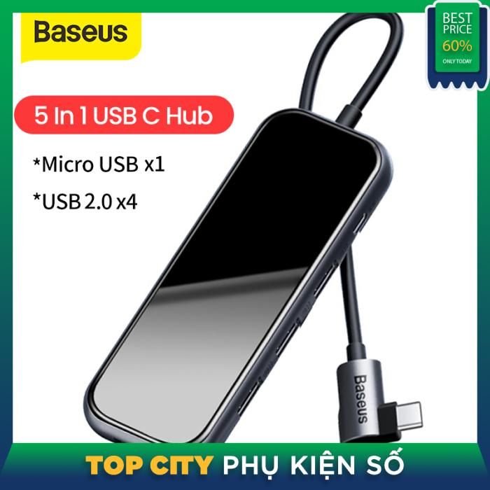 Bảng giá Baseus Đa Chức Năng Type C HUB Để USB3.0 HDMI RJ45 SD/TF Loại C Nguồn Điện PD Dock USB Cho MacBook Huawei MateBook Máy Tính Xách Tay Samsung Bảng Máy Tính Mở Rộng Hub Phong Vũ