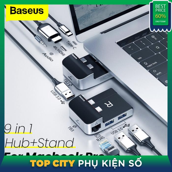 Bảng giá Baseus 9 Trong 1 USB C HUB Loại C HUB Để HDMI RJ45 Đa USB 3.0 Bộ Chuyển Đổi Cho MacBook Pro Không Khí Thunderbolt 3 Bộ Chia USB Kết Hợp Phong Vũ