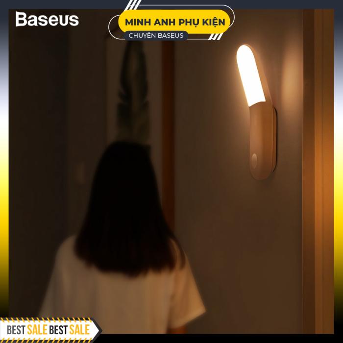 Baseus LED Đèn tường trong nhà Đèn cảm biến chuyển động Pir Lối vào cảm ứng của con người & Lối đi Đèn treo tường Đèn ngủ cho cầu thang Phòng ngủ gia đình