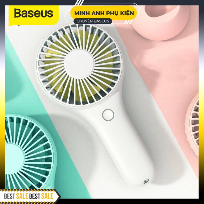 Baseus Mini Quạt USB Tay Cầm Xách Tay Thông Gió Có Thể Sạc Lại Pin Tích Hợp 1800 MAh Quạt Làm Mát Không Khí Tiện Dụng Cho Gia Đình Ngoài Trời