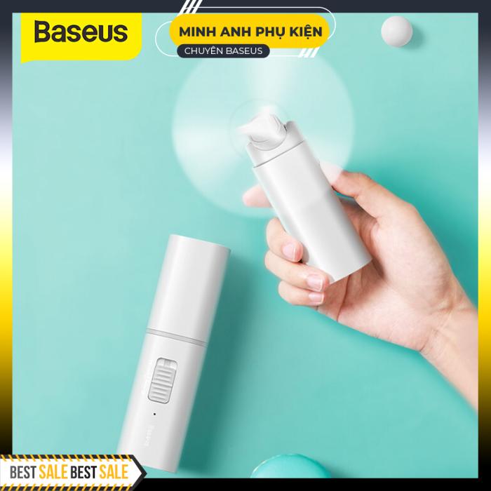 Baseus Quạt Gấp Tiện Lợi USB Quạt Làm Mát Nhỏ Gọn 2 Quạt Làm Mát USB Tốc Độ Cao Quạt Làm Mát Khẩn Cấp 2000 MAh