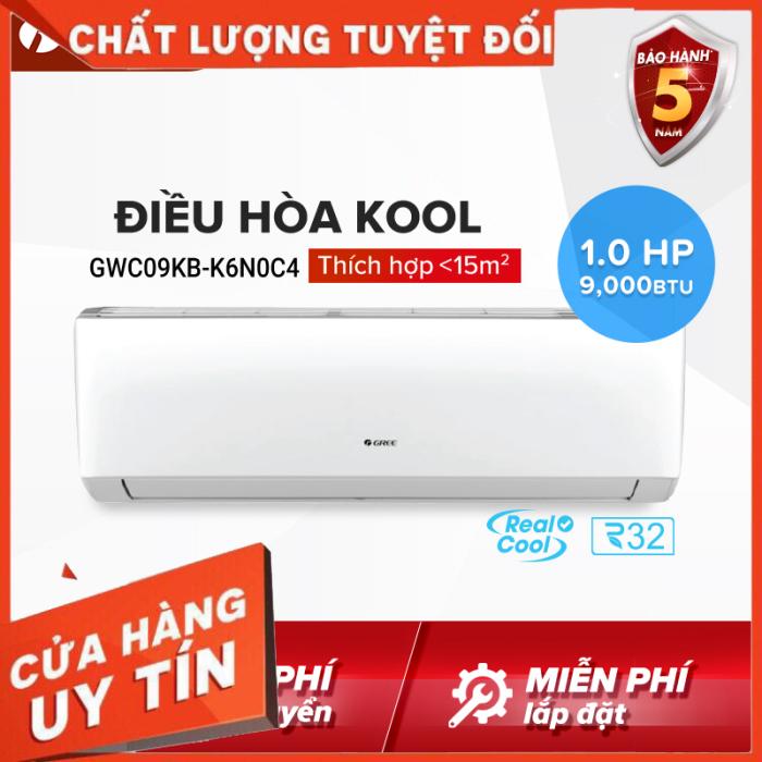 Bảng giá Điều hòa GREE- công nghệ Real Cool - 1 HP (9000 BTU) - KOOL GWC09KB-K6N0C4 (Trắng) - Hàng phân phối chính hãng DT Hỗ trợ 0917516177