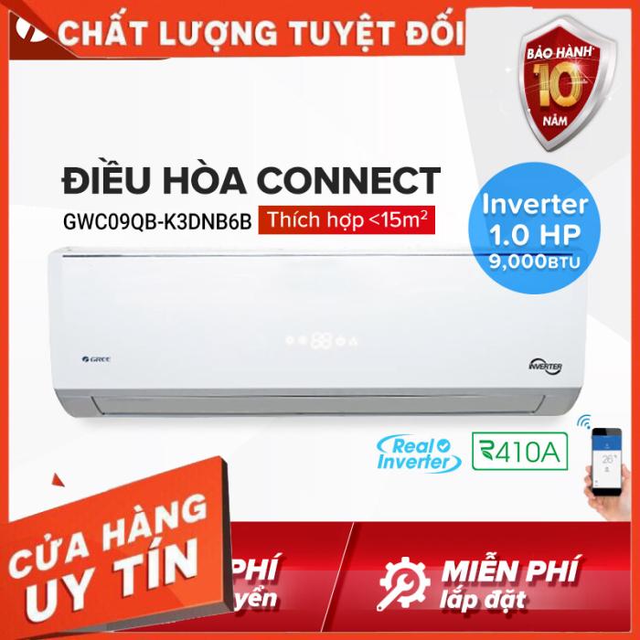 Bảng giá Điều hòa GREE- công nghệ Real Inverter- 1 HP (9.000 BTU) - CONNECT GWC09QB-K3DNB6B (Trắng) - Hàng phân phối chính hãng DT Hỗ trợ 0917516177
