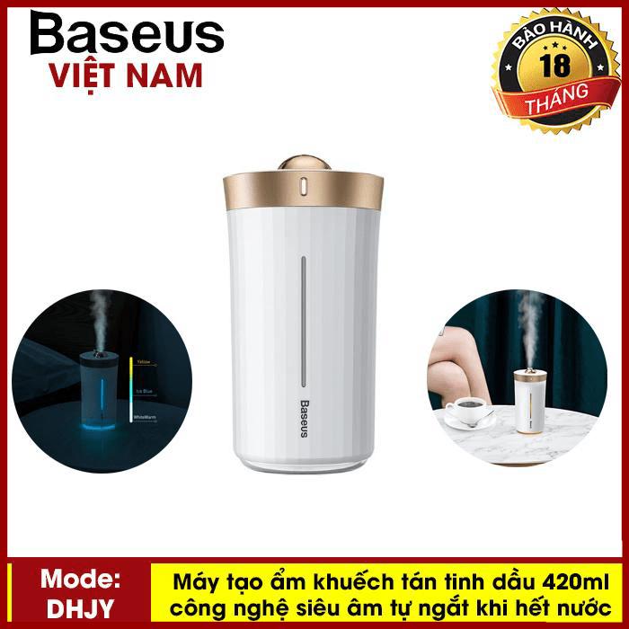 Máy phun sương tạo độ ẩm Baseus H420ml công nghệ siêu âm cho Văn Phòng , tại nhà,.. ( Tự động ngắt khi hết nước) - Phân phối bởi TopLink