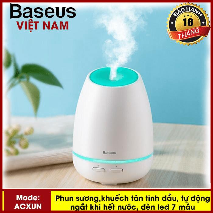 Máy phun sương, tạo ẩm, khuếch tán tinh dầu Mini Baseus Creamy  - đèn Led 7 mầu - Phân phối bởi TopLink